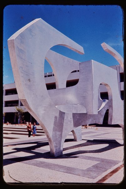 An image of Detail of 'Sculptural form' by Margel Hinder at Woden, Canberra by Unknown