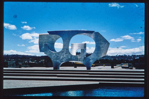 An image of 'Sculptural form' by Margel Hinder at Woden, Canberra by Unknown