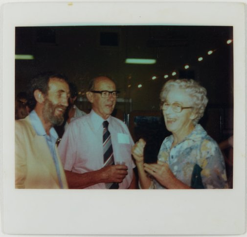 An image of Frank Watters and others at the Upper Hunter Valley environment exhibition by Unknown