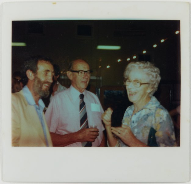 An image of Frank Watters and others at the Upper Hunter Valley environment exhibition