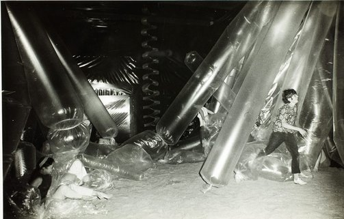 An image of Interior of the 'Black box' 1969 by Herbert Flugelman by Herbert Flugelman