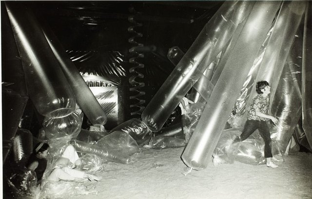 An image of Interior of the 'Black box' 1969 by Herbert Flugelman