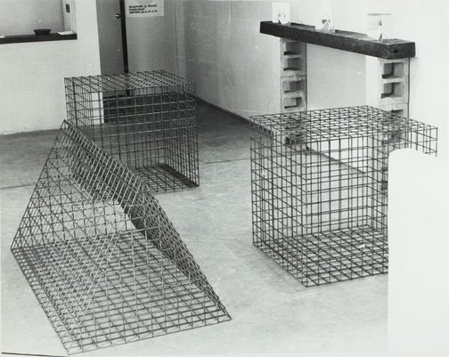 An image of Installation view of the exhibition 'Sculpture & prints: Flugelman', 1972, Watters Gallery by Unknown
