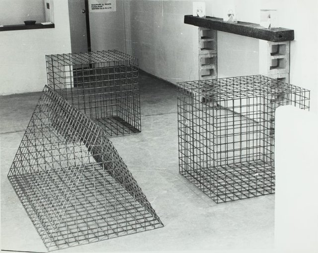 An image of Installation view of the exhibition 'Sculpture & prints: Flugelman', 1972, Watters Gallery
