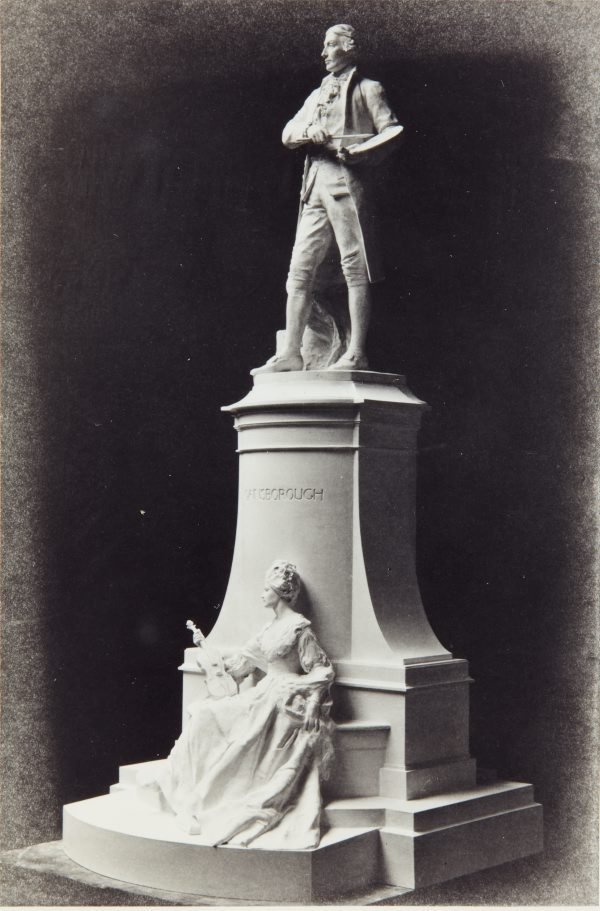 An image of Image of plaster maquette for the national memorial to Thomas Gainsborough RA by Bertram Mackennal