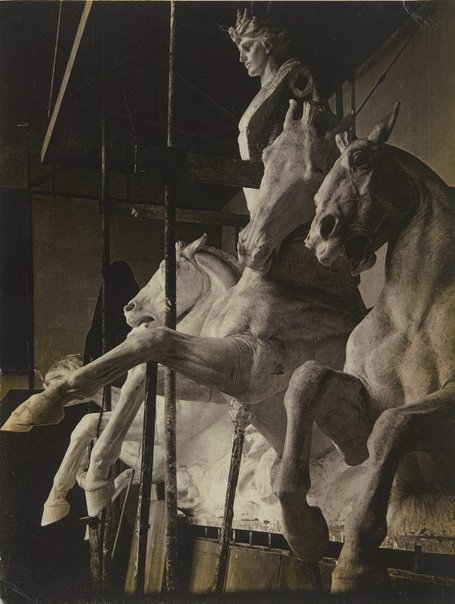 An image of Image of plaster cast of the sculpture 'Phoebus driving the horses of the sun' 1912-24 by Bertram Mackennal for Australia House, London by Unknown