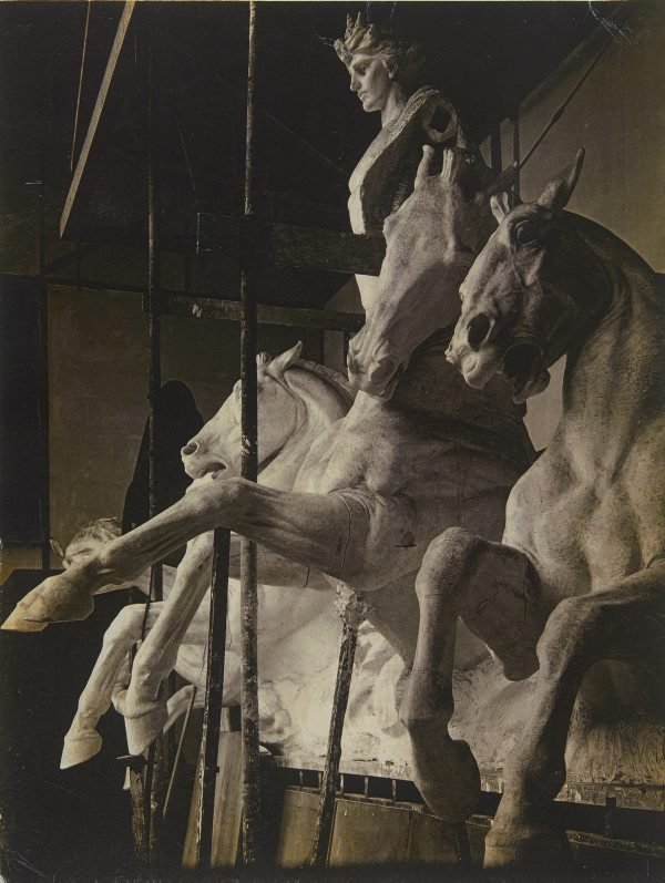 An image of Image of plaster cast of the sculpture 'Phoebus driving the horses of the sun' 1912-24 by Bertram Mackennal for Australia House, London