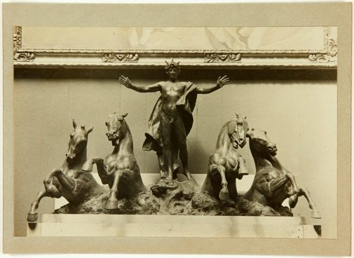 An image of Image of  a small bronze version of the sculpture 'Phoebus driving the horses of the sun' 1912-24 by Bertram Mackennal for Australia House, London by Unknown