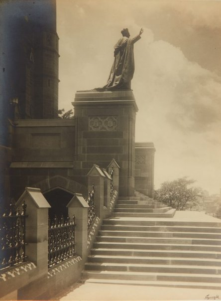 An image of Untitled (Statue of Cardinal Moran by Bertram Mackennal) by Harold Cazneaux