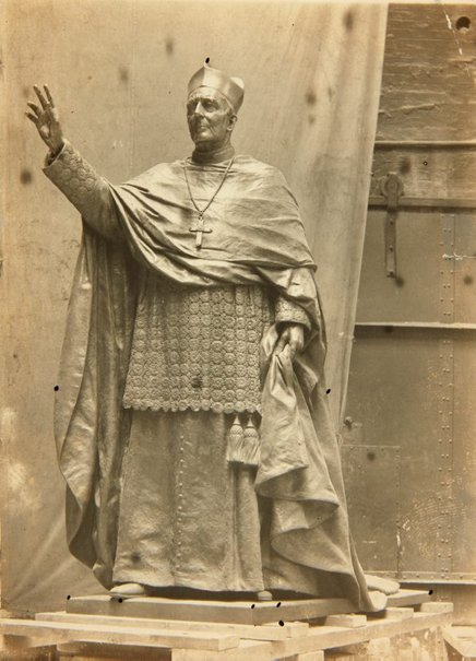 An image of Image of the statue of 'Cardinal Moran' 1928 by Bertram Mackennal at the foundry by Unknown