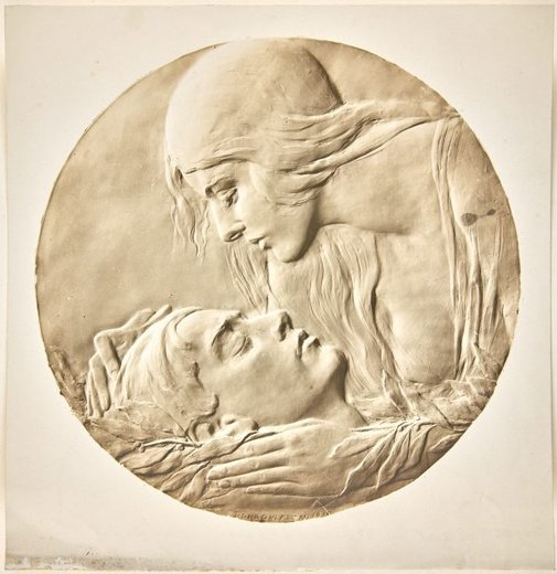 An image of Image of plaster cast of the obverse of the Anzac medal by Dora Ohlfsen by Dora Ohlfsen
