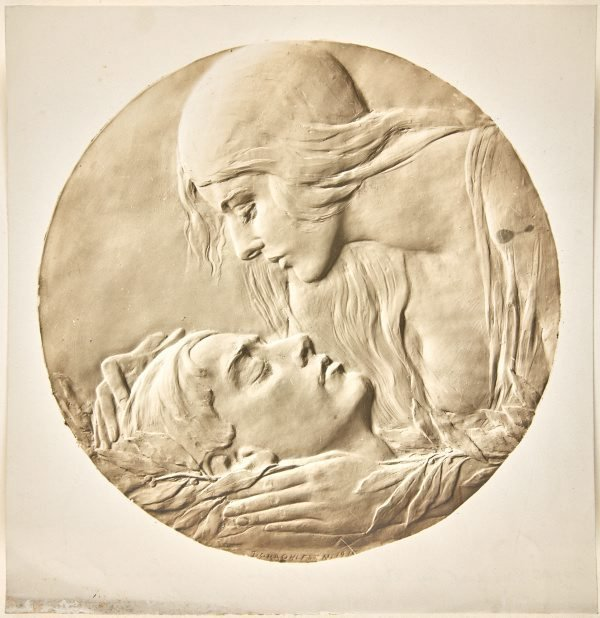 An image of Image of plaster cast of the obverse of the Anzac medal by Dora Ohlfsen