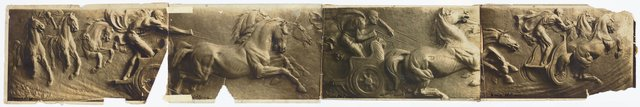 An image of Images of plaster cast of Greek chariot race by Dora Ohlfsen
