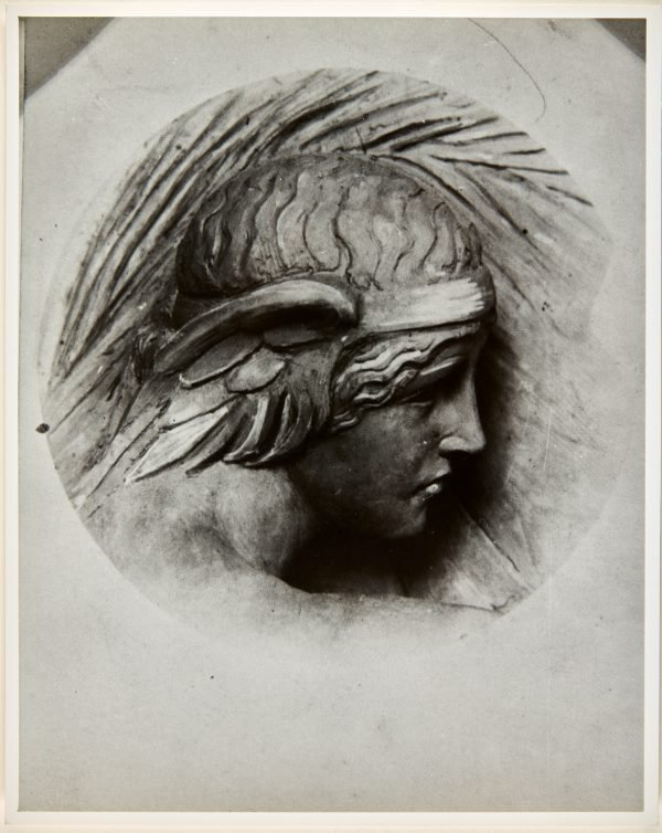 An image of Image of design for the head of the figure on the pedestal of the Formia war memorial by Dora Ohlfsen
