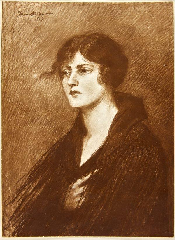 An image of Image of pastel portrait of Mrs Grey by Dora Ohlfsen