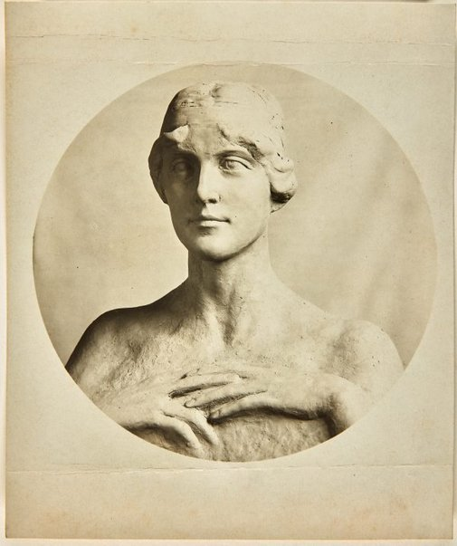 An image of Image of plaster study for marble bust of Mrs Piercy by Dora Ohlfsen by Dora Ohlfsen