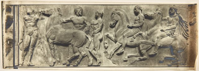 An image of Image of horses and riders from north-west corner of Parthenon frieze