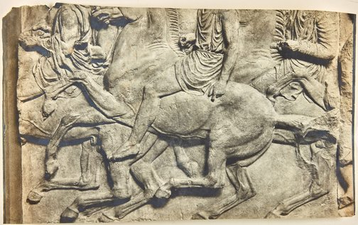 An image of Image of horses and riders from north-west corner of Parthenon frieze by Unknown