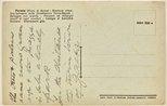 Alternate image of Annotated postcard depicting the Piazza della Vittoria and war memorial by Dora Ohlfsen at Formia by Dora Ohlfsen