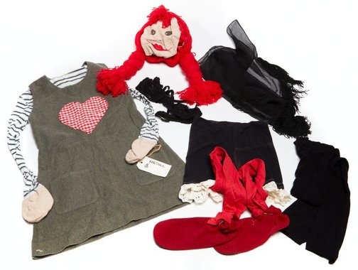 An image of Costume worn in the performance 'Living rag doll' 2004 by Katthy Cavaliere