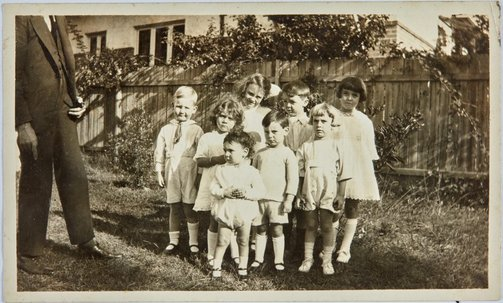 An image of Pre-school photograph of Robert Klippel with other children by Unknown