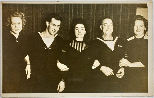 An image of Robert Klippel, Buck Taylor and others at a dance at the Gunnery Instructional Centre, Sydney by Leicagraph Co.