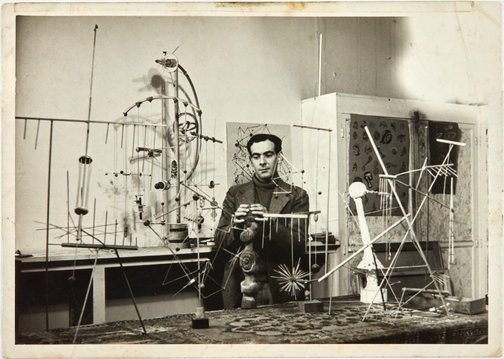 An image of Robert Klippel in his Paris atelier by Unknown