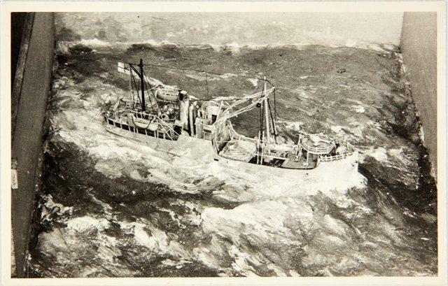 An image of Robert Klippel's model of HMAS Bombo