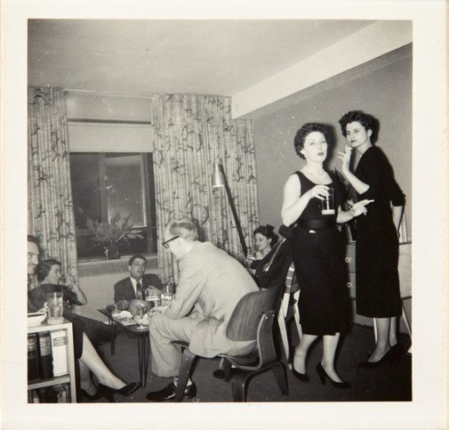 An image of Nina Mermey at a party with friends by Unknown photographer