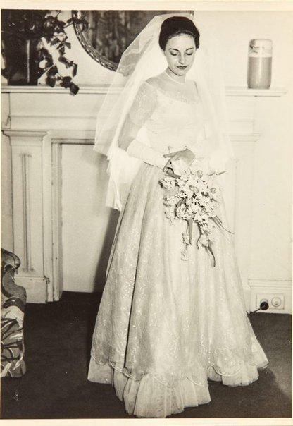 An image of Nina Mermey on her wedding day by Unknown photographer