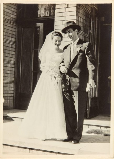 An image of Robert Klippel and Nina Mermey on their wedding day by Unknown photographer