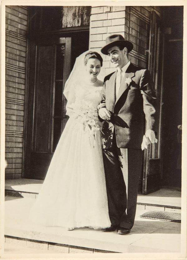 An image of Robert Klippel and Nina Mermey on their wedding day