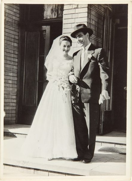 An image of Nina Mermey and Robert Klippel on their wedding day by Unknown photographer