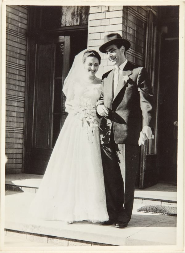 An image of Nina Mermey and Robert Klippel on their wedding day