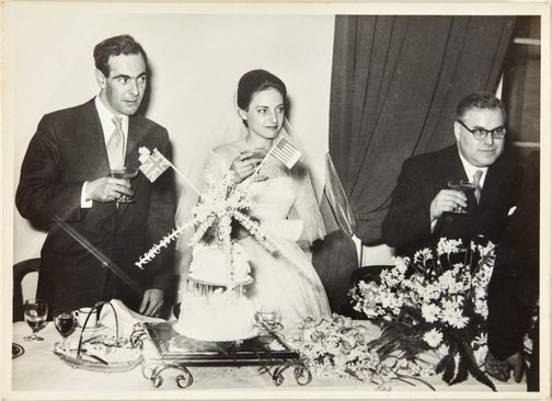An image of Nina Mermey and Robert Klippel on their wedding day by