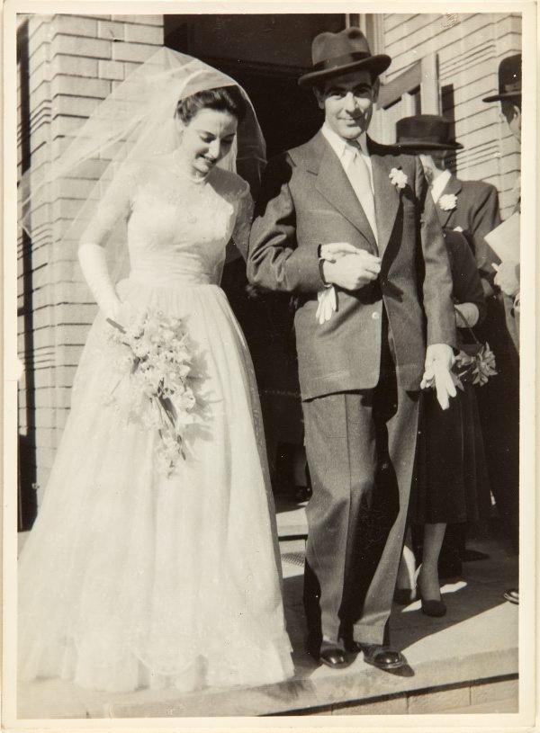 An image of Nina Mermey and Robert Klippel on their wedding day