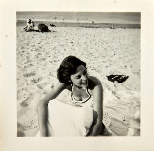 An image of Nina Mermey on the beach by Robert Klippel