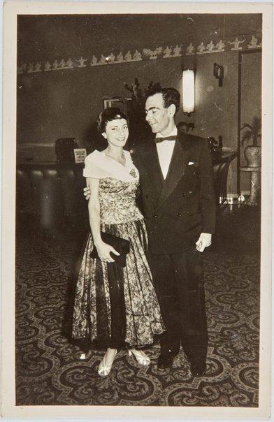 An image of Nina Mermey and Robert Klippel at a ball by E.A. Faulkner