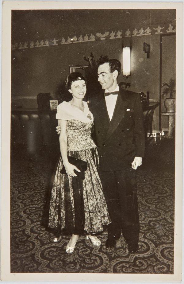 An image of Nina Mermey and Robert Klippel at a ball