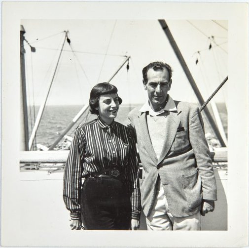 An image of Nina Mermey and Robert Klippel on board the Oronsay by Unknown photographer