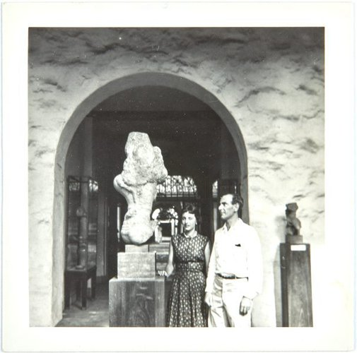 An image of Nina Mermey and Robert Klippel in Honolulu by Unknown photographer