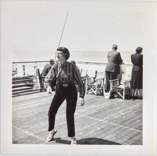 An image of Nina Mermey on board the Oronsay by Robert Klippel