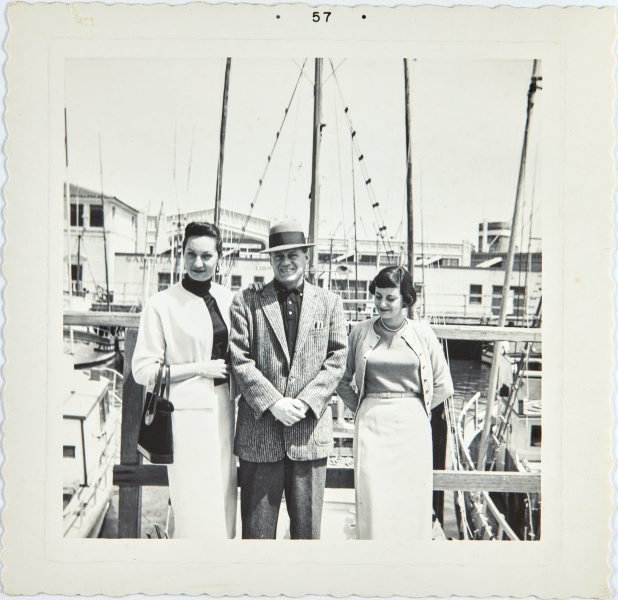 An image of Nina Mermey and friends on the harbour in San Francisco