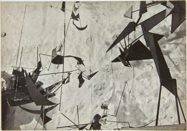 An image of Robert Klippel sculpture Opus 71 at his Potts Point studio