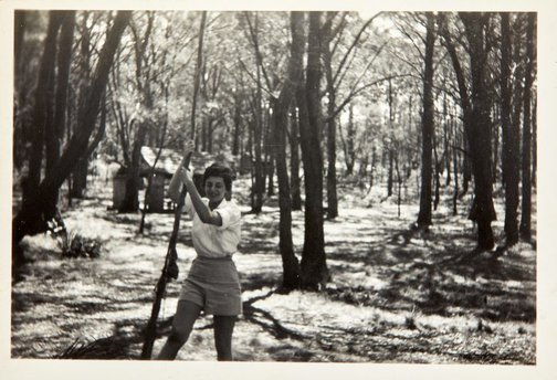 An image of Nina Mermey in the bush by Robert Klippel