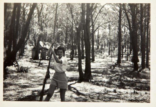 An image of Nina Mermey in the bush