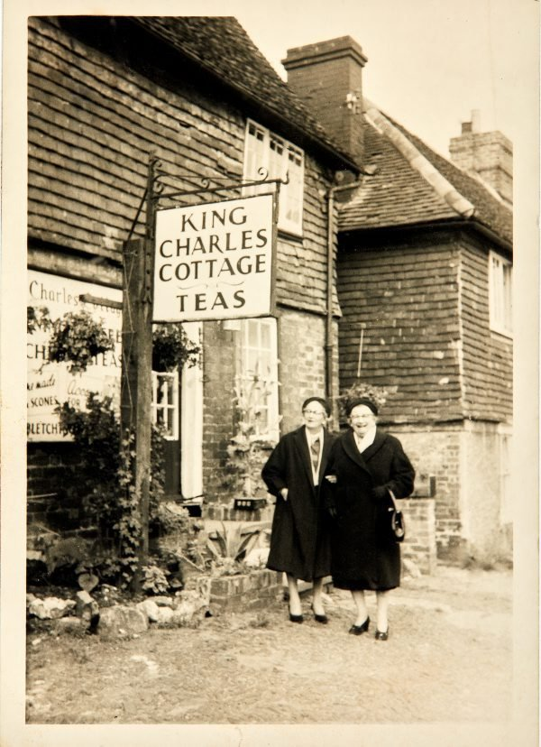 An image of Haidie Klippel and Dulcie in London