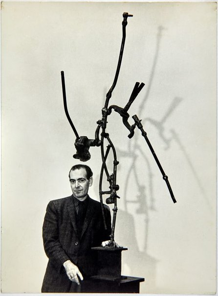 An image of Robert Klippel  with 'Opus 115' 1961 in Minneapolis by