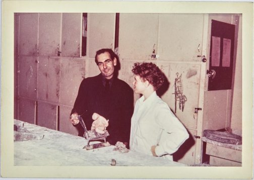 An image of Robert Klippel with Susan at the Minneapolis School of Art by Unknown