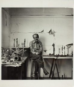 An image of Portrait of Robert Klippel in his studio by